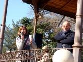 La regidora del Districte, Mercè Homs, i el gerent del Consorci d'Educació, Manel Blasco.
