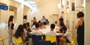 Imatge de la residència de Mariona Moncunill a l'Institut Juan Manuel Zafra.