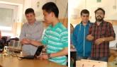 Imatge de les presentacions de l'Institut Pau Claris i de l'escola d'educació especial Rel.