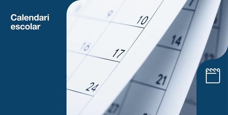Fotografia d'un calendari escolar