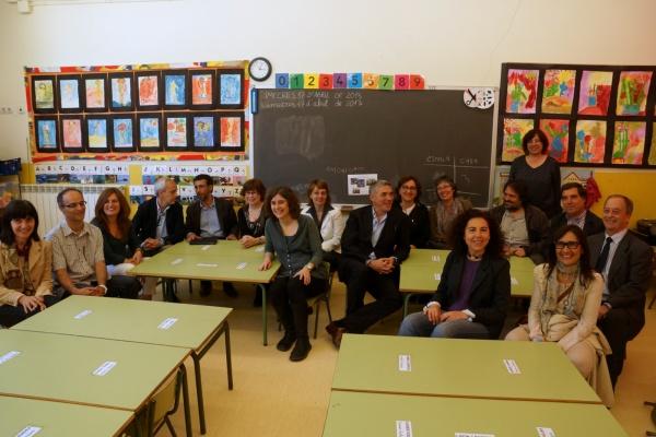 Imatge dels representants de totes les institucions implicades en el programa.
