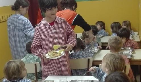 Suport al menjador dels petits