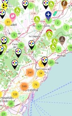 Mapa d'entitats de Catalunya