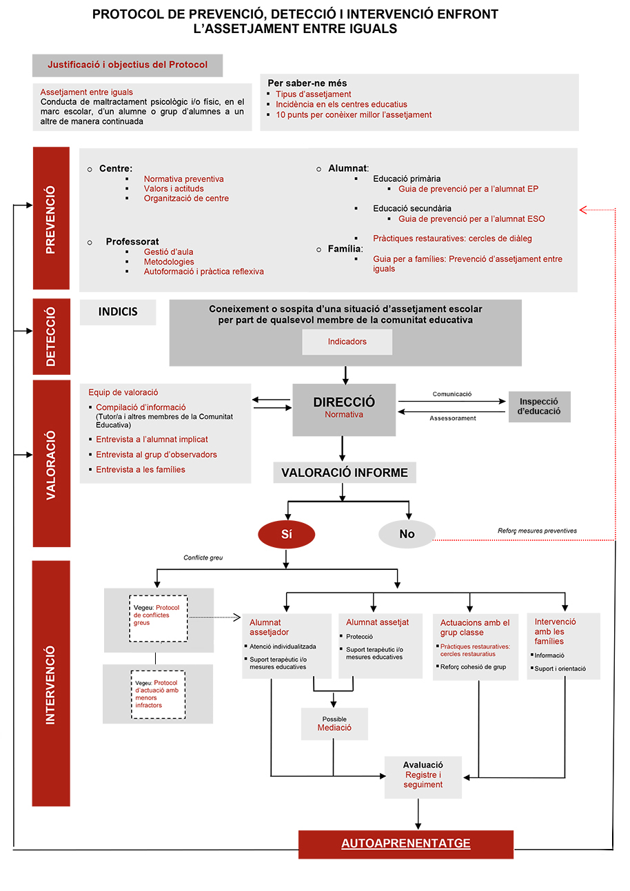 Protocol de detecció i intervenció enfront l'assetjament entre iguals