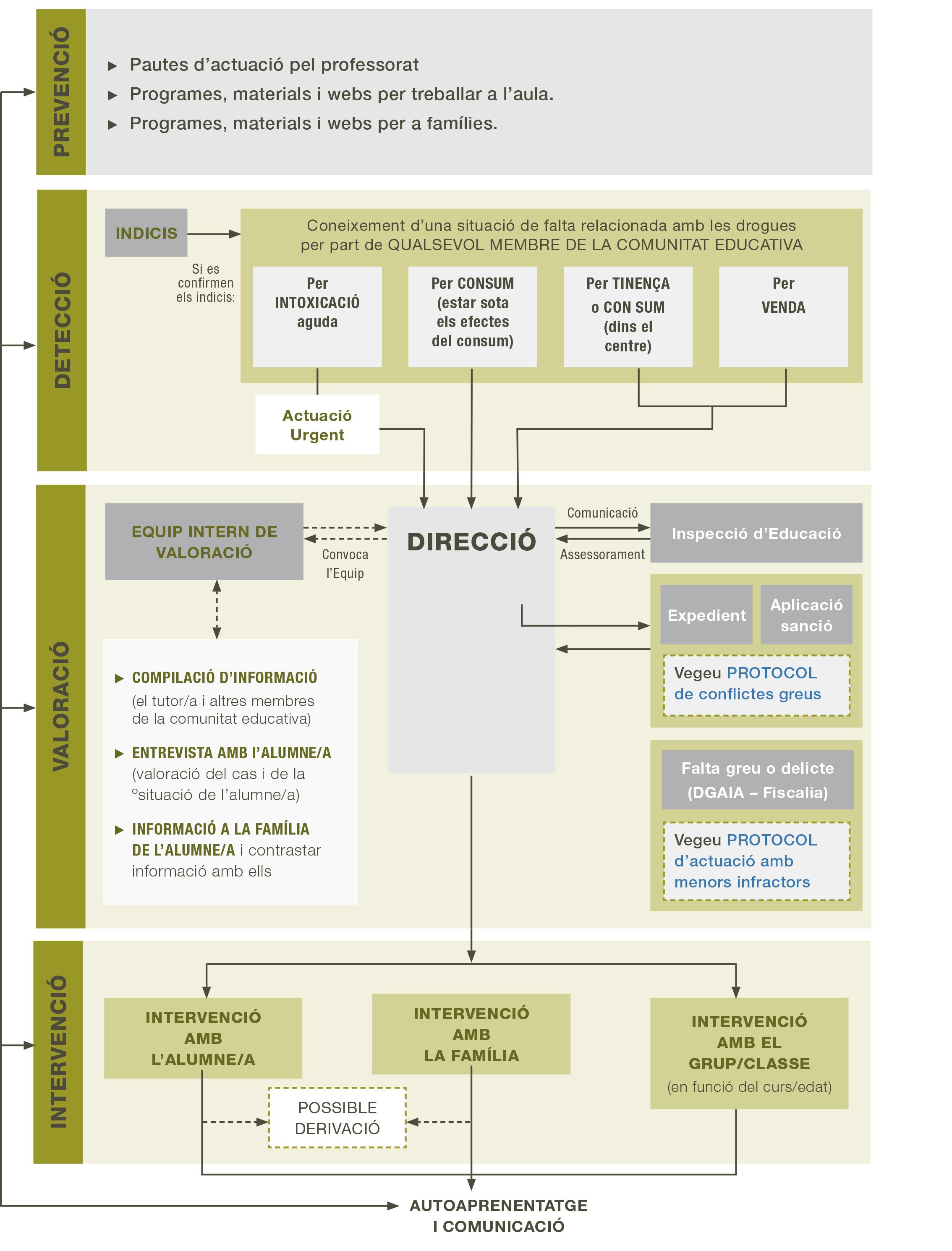 Protocol de prevenció de drogues als centres de secundària
