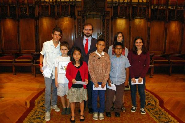 L'alumnat guardonat en les categories d'estudis obligatoris que participarà en els Jocs Florals Escolars de Catalunya del proper 14 de juny.