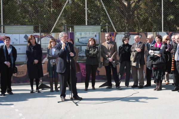 L'alcalde de Barcelona, Xavier Trias, dirigeix unes paraules als assistents